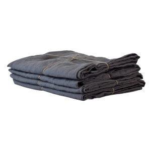 Tell Me More Washed Linen Tyynynpäällinen Tummanharmaa 50x70 Cm