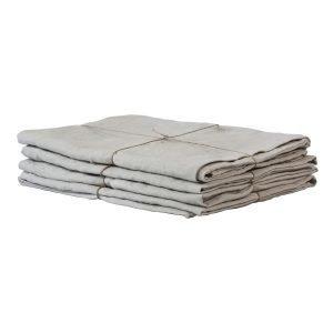 Tell Me More Washed Linen Tyynynpäällinen Vaaleanharmaa 50x70 Cm
