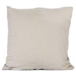 Tell Me More Washed Linen Tyynynpäällinen Vaaleanharmaa 65x65 Cm