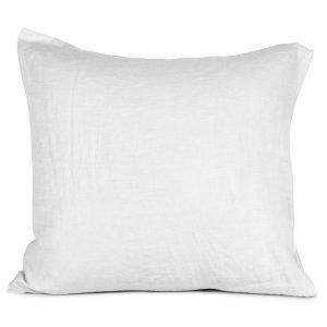 Tell Me More Washed Linen Tyynynpäällinen Valkoinen 65x65 Cm