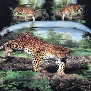 Textelle Vuodevaatteet 3d Leopardi Puussa