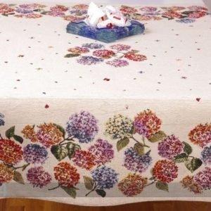 Tg Gobeliinikankainen Pöytäliina Hortensiat 100x100 Cm