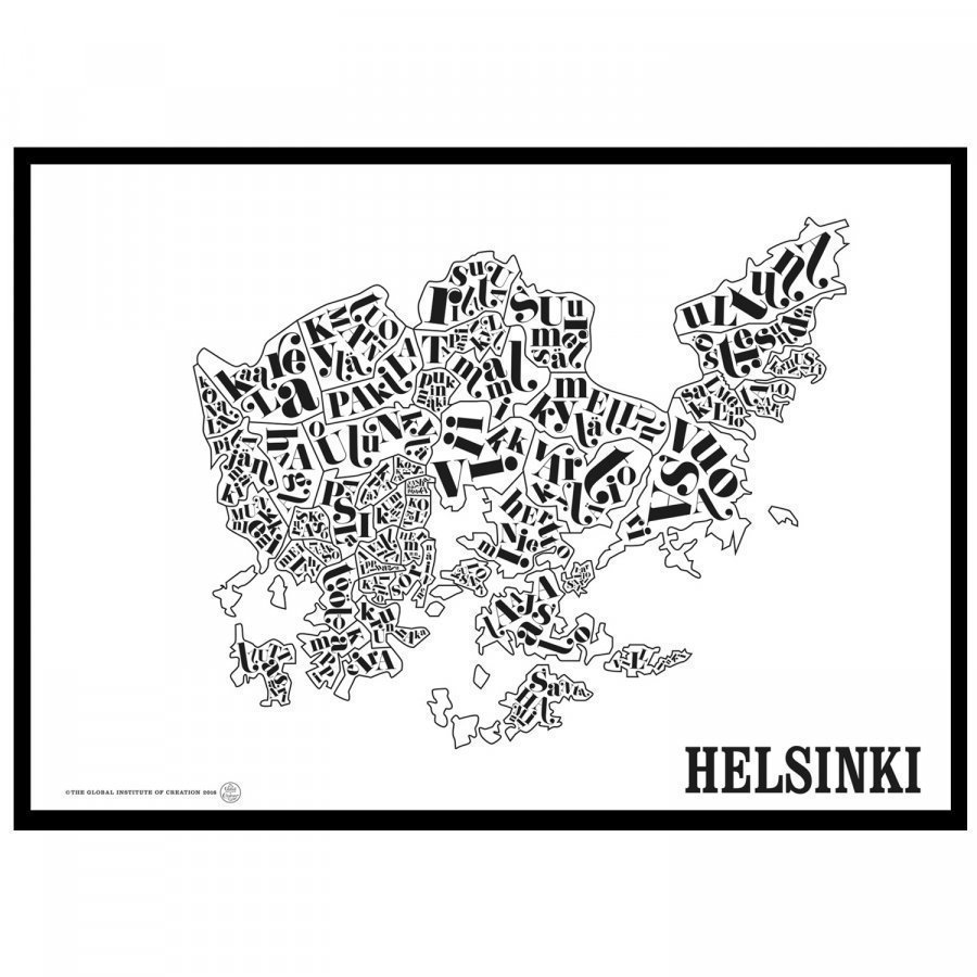 Tgioc Helsinki Kartta Juliste Sisustuskauppa24 Fi