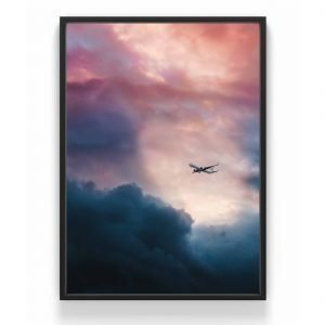 The Nordic Poster Airplane Juliste Roosa 30x40 Cm