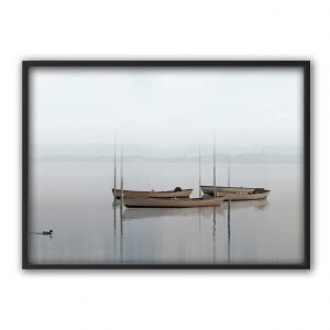 The Nordic Poster Boats Juliste Sininen 50x70 Cm