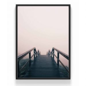 The Nordic Poster Bridge Juliste Harmaa 30x40 Cm