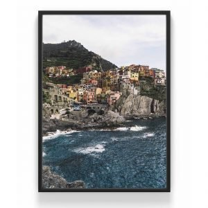 The Nordic Poster Cinque Terre Juliste Sininen 30x40 Cm