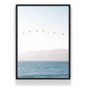 The Nordic Poster Flying Birds Juliste Sininen 30x40 Cm