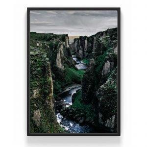 The Nordic Poster River Juliste Vihreä 30x40 Cm