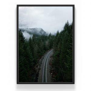 The Nordic Poster Road Juliste Vihreä 50x70 Cm