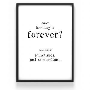 The Nordic Poster Text Forever Juliste Musta 30x40 Cm