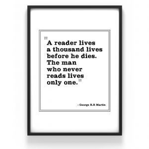 The Nordic Poster Text Reader Juliste Musta 30x40 Cm