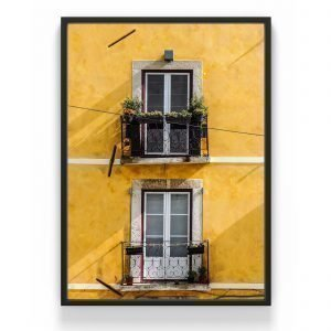 The Nordic Poster Yellow House Juliste Keltainen 50x70 Cm
