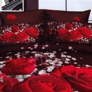 Tx Vuodevaatteet 3d Punainen Ruusu