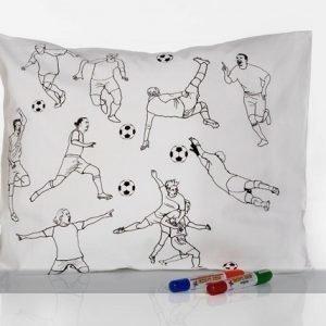 Väga Vahva Tyynyliina 50x60 Cm Jalkapalloilijat+Tekstiilitussi