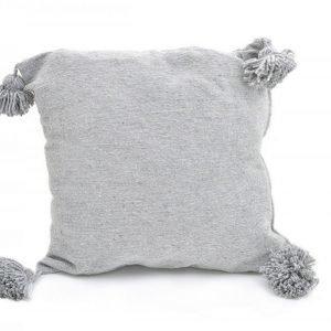 Vaalean Harmaa Pompom Tyynynpäällinen 50x50 Cm
