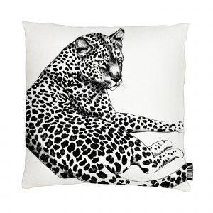 Vallila Siesta Cats Tyynynpäällinen Musta Valkoinen