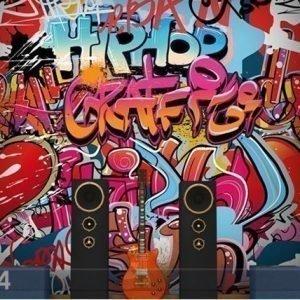 Visario Kuvatapetti Hiphop Graffiti Wall 300x280 Cm