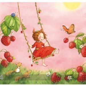 Visario Kuvatapetti Strawberry Fairy 300x280 Cm
