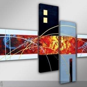 Visario Neljäosainen Seinätaulu Optik 160x70 Cm