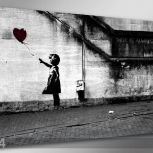 Visario Seinätaulu Banksy Art 60x80 Cm