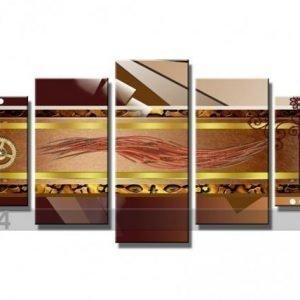 Visario Viisiosainen Seinätaulu Abstrakt 200x100 Cm