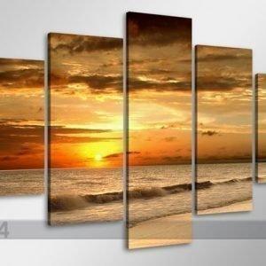 Visario Viisiosainen Seinätaulu Auringonlasku