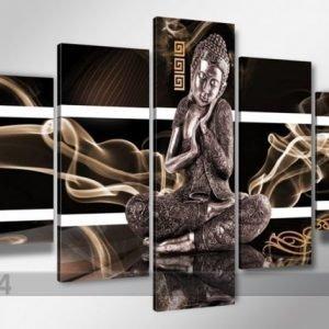 Visario Viisiosainen Seinätaulu Buddha