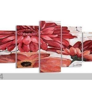 Visario Viisiosainen Seinätaulu Kukka 200x100 Cm
