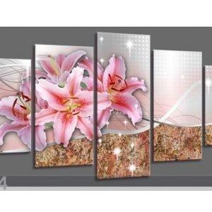 Visario Viisiosainen Seinätaulu Lily 200x100 Cm