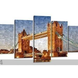 Visario Viisiosainen Seinätaulu London 200x100 Cm