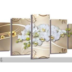 Visario Viisiosainen Seinätaulu Orchid 200x100 Cm