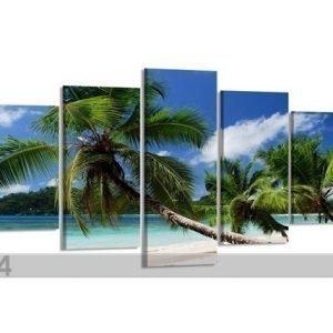 Visario Viisiosainen Seinätaulu Palmut 200x100 Cm