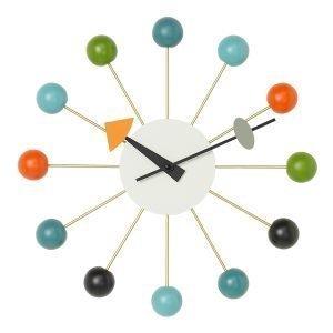 Vitra Ball Clock Seinäkello Monivärinen