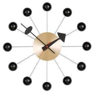 Vitra Ball Clock Seinäkello Musta Messinki