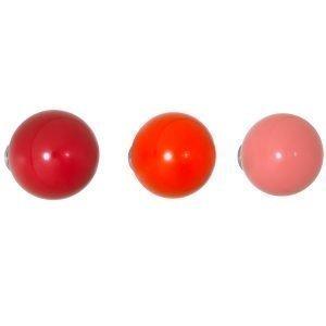 Vitra Coat Dots Ripustimet Punainen 3 Kpl