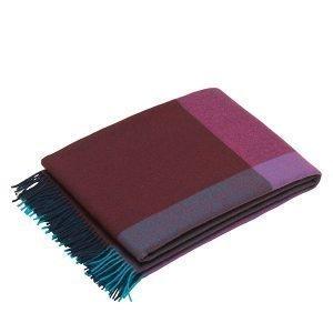Vitra Colour Block Torkkupeitto Sininen Viininpunainen
