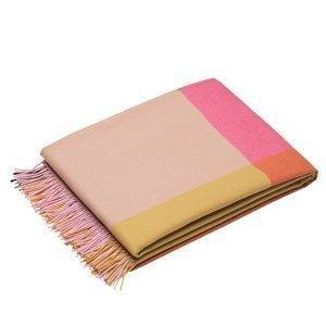 Vitra Colour Block Torkkupeitto Vaaleanpunainen Beige