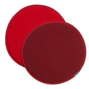 Vitra Seat Dot Istuintyyny Tummanpunainen Punainen