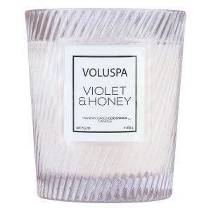 Voluspa Macaron Tuoksukynttilä Violet & Honey 40 H