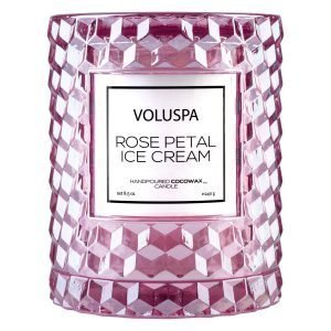 Voluspa Roses Tuoksukynttilä Rose Petal Ice Cream 55 H