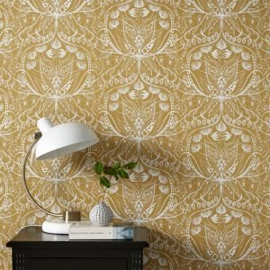 Wallpaper By Ellos Anna Lisa Tapetti Keltainen