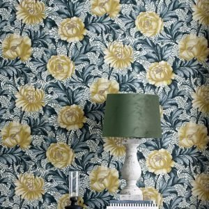 Wallpaper By Ellos Penelope Tapetti Keltainen