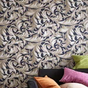Wallpaper By Ellos Ruby Tapetti Sininen