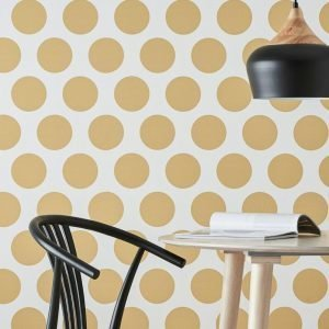Wallpaper By Ellos Stacey Tapetti Keltainen