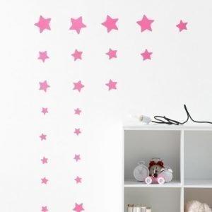 Wallpaper By Ellos Tähdet Seinätarra Neonroosa