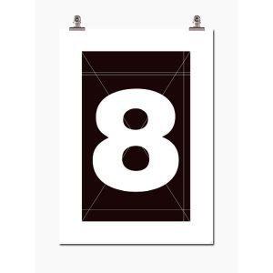 Wallstuff Number Eight Juliste