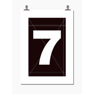 Wallstuff Number Seven Juliste