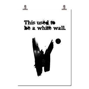 Wallstuff White Wall Juliste