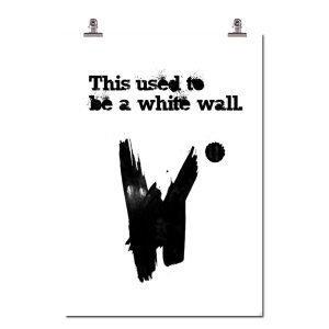 Wallstuff White Wall Juliste